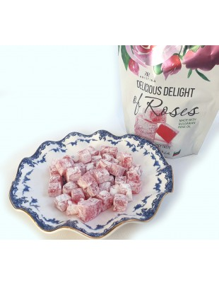 Delicious Delight Lokum Sweets with Bulgarian Rose Oil & Rose of Damask Petals